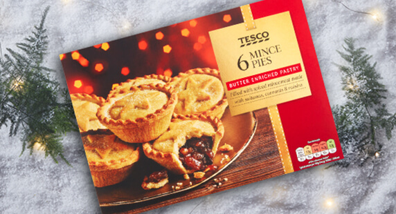 Tesco mince pies just £1