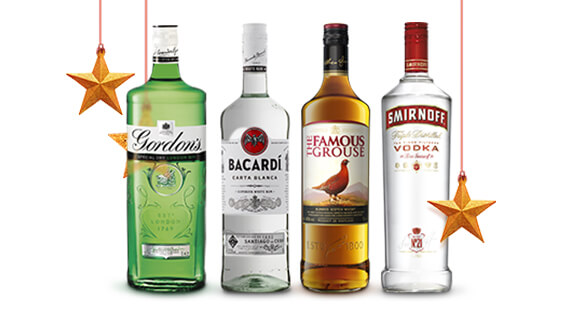 Selected spirits just £16