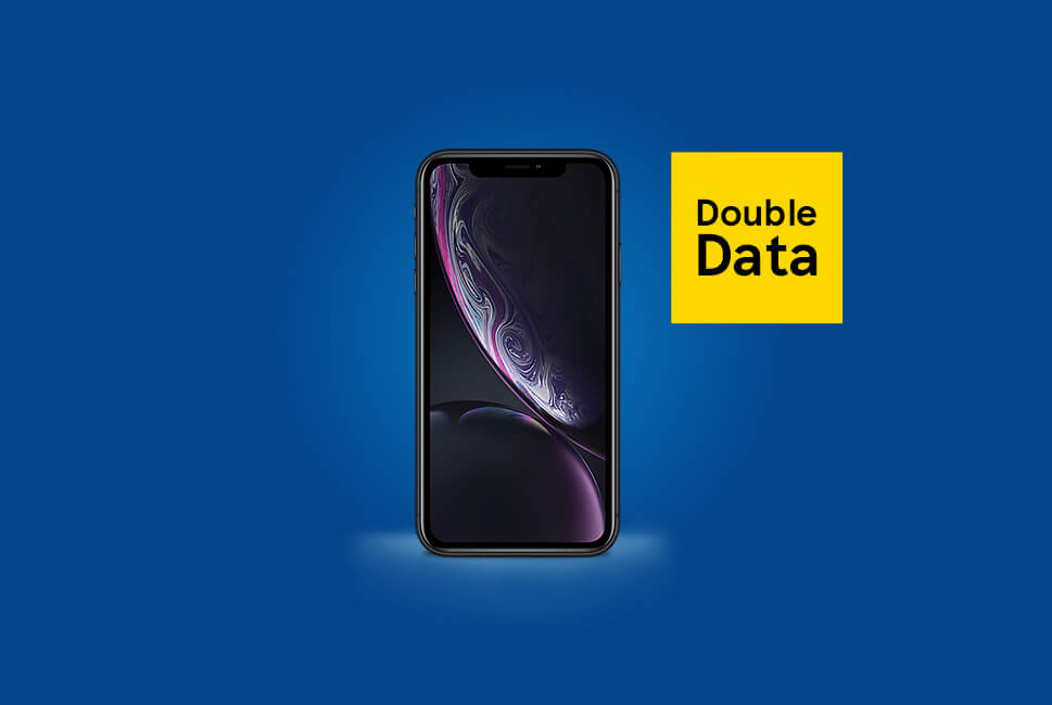 Double data on selected iPhones*