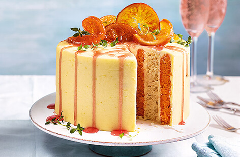 Bake our Negroni cake