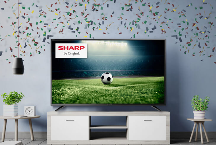 Watch the big game on a large screen TV