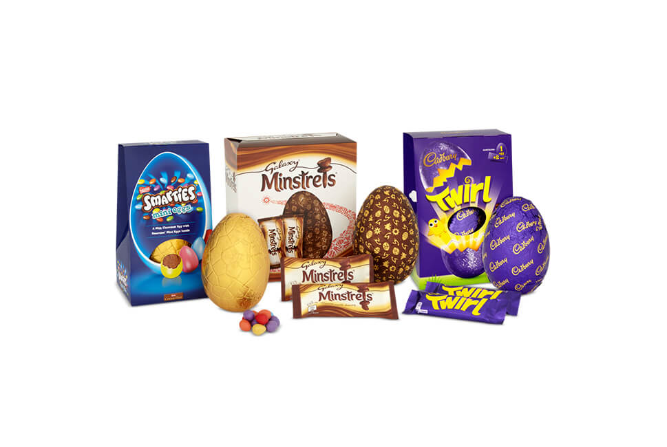 3 for £10 large Easter eggs