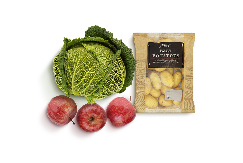 Half price selected fruit and vegetables