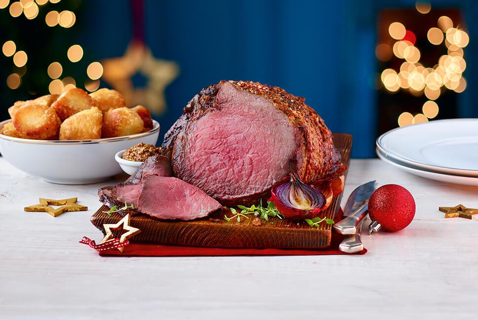 Half price beef roasting joint