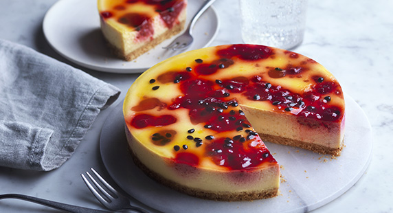 Tesco Finest Raspberry and Passion Fruit Cheesecake