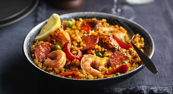 Tesco Finest Chicken, Prawn and Chorizo Paella