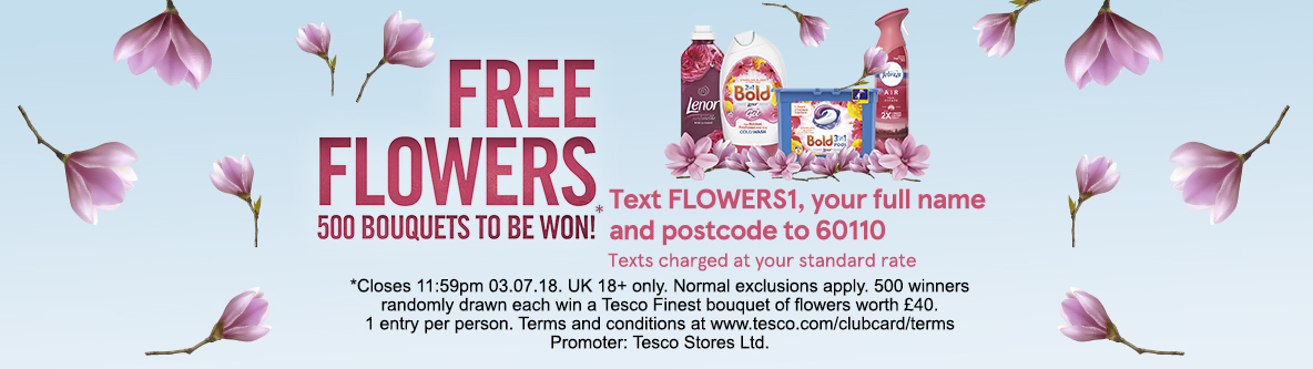 Our range - Free Flowers - 500 bouquets to be won! - Tesco Groceries