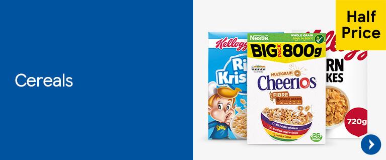 Half price on cereals