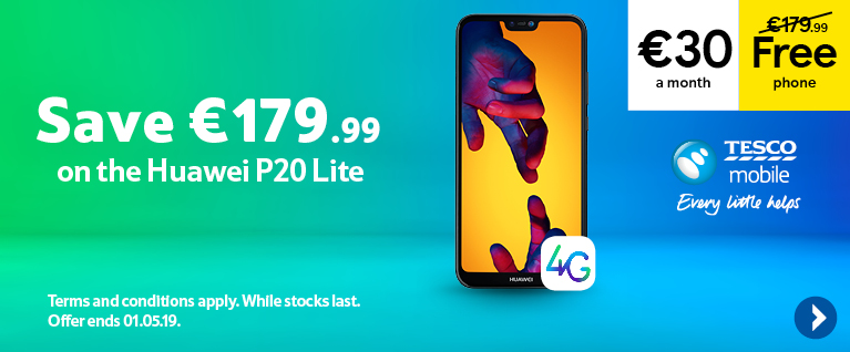 Free Huawei P20 Lite on a 30 euro a month contract, saving you 179 euros and 99 cents