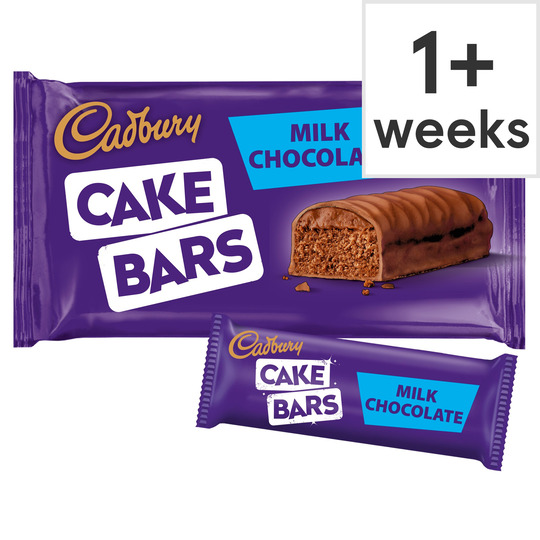 image 1 of Cadbury Milk Chocolate Cake Bars 5 Pack