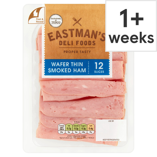 Eastman's Wafer Thin Smoked Ham 125G
