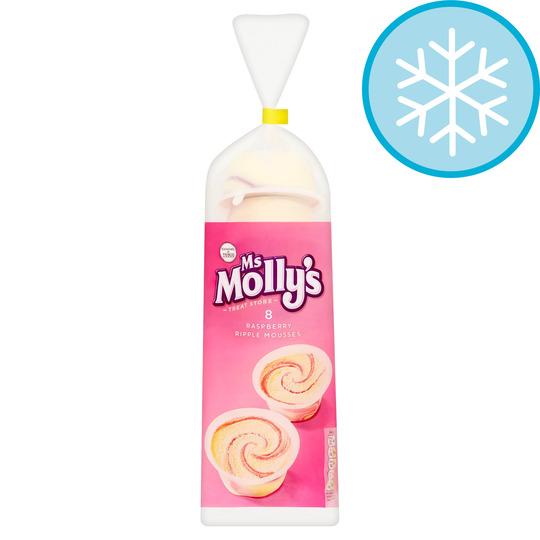 Ms Molly's Raspberry Ripple Mousses 8X100ml