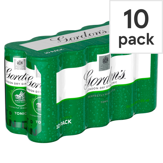 Gordon's With Schweppes Gin & Tonic 10X250ml