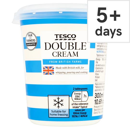 Tesco Fresh Double Cream 300Ml