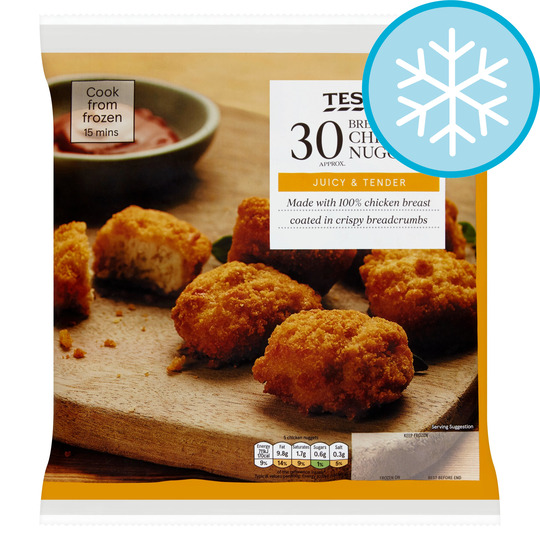 Tesco 30 Breaded Chicken Breast Nuggets 450G