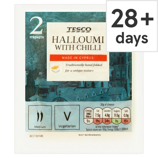 Tesco Halloumi With Chilli 225G