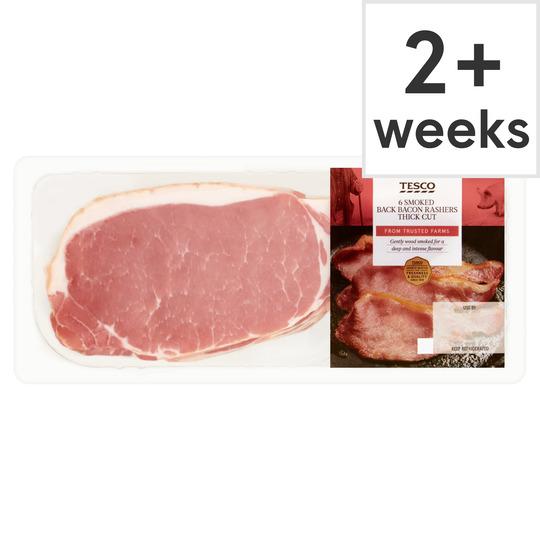 Tesco Smoked T C Back Bacon Rasher 300g Tesco Groceries