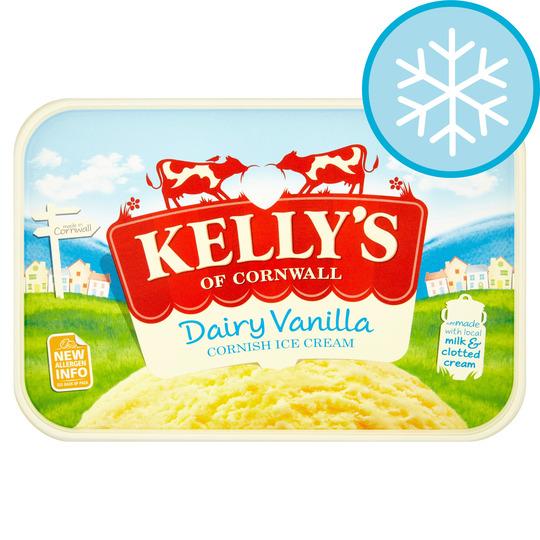 Kelly's Vanilla Cornish Dairy Ice Cream 1 Litre