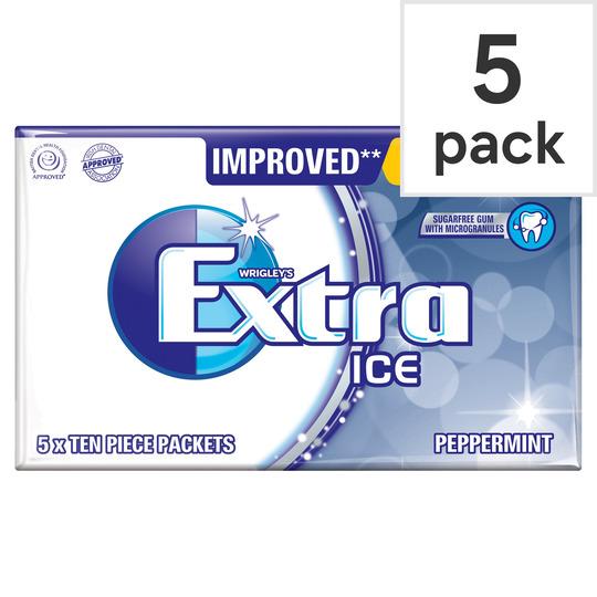 Wrigleys Extra Ice Peppermint Gum 5 Pack