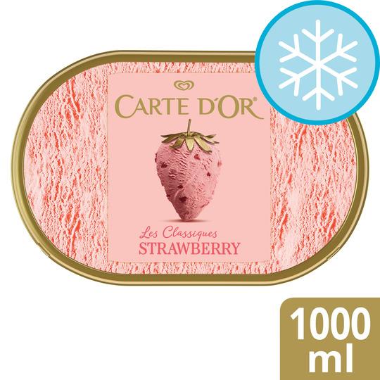 Carte D'or Strawberry Ice Cream 1000Ml