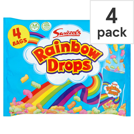 Swizzels Rainbow Drops Multibag 4 X 32G