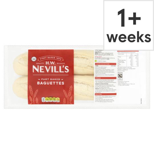 H.W. Nevill's Part Baked Baguette 2 Pack