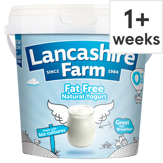 Lancashire Farm Natural Fat Free Yogurt 1Kg