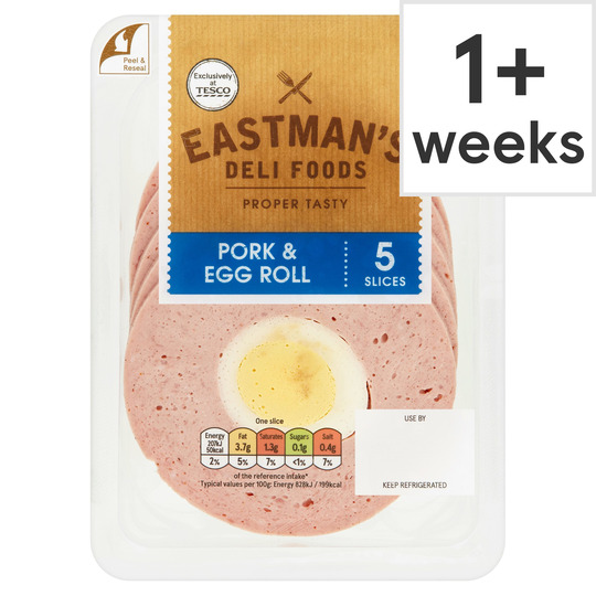 Eastman's Pork & Egg Roll 5 Slices 125G