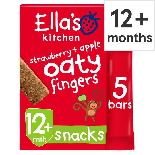 Ella's Strawberries And Apples Nibbly Fingers 5 X 25G