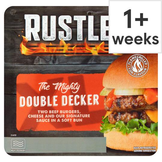 Rustlers Double Decker Cheese Burger 237G
