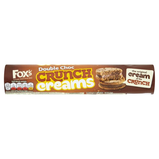 image 1 of Fox's Double Chocolate Crunch Creams 230G
