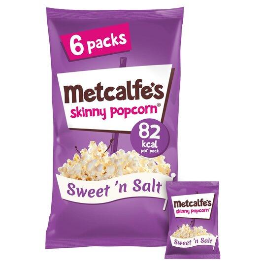 Metcalfe's Skinny Popcorn Sweet & Salt 6X17g