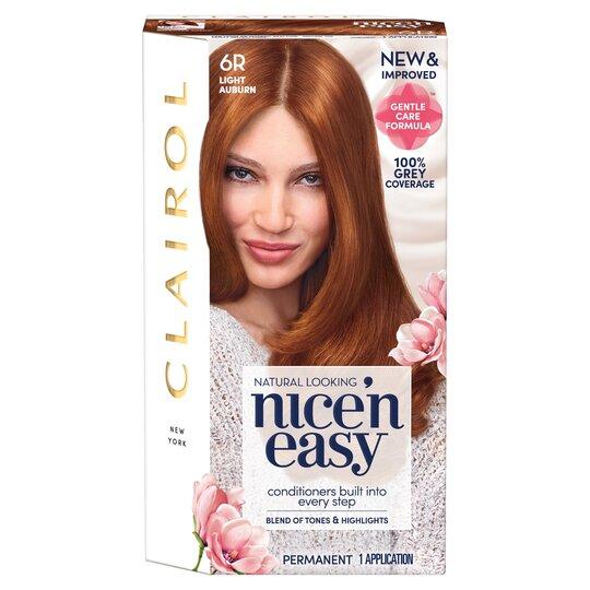 Clairol Nice 'N Easy Permanent Light Auburn 6R. Hair Dye