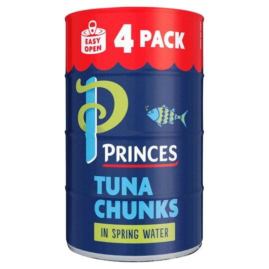 Princes Tuna Chunks In Spring Water 4X145g