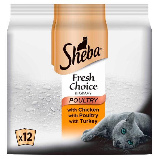 image 1 of Sheba Cat Food Fresh Choice Poultry 12 X 50G