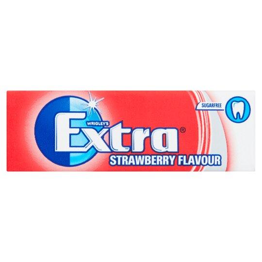 image 1 of Extra Strawberry Gum 10 Pieces