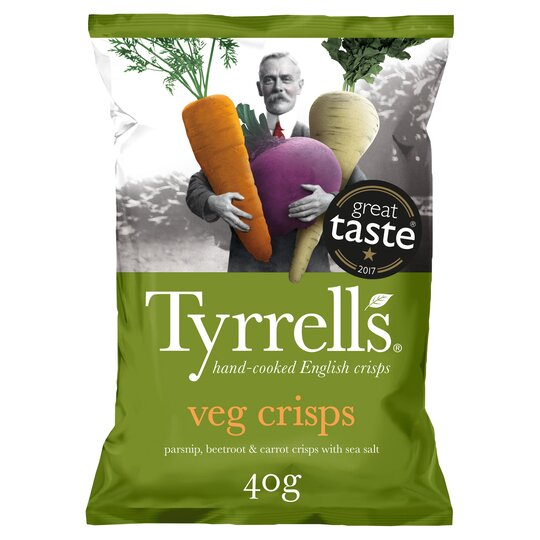 Tyrrells Mixed Root Vegetable Crisps 40G