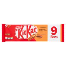 image 1 of Kit Kat 2 Finger Orange Chocolate Biscuit 9 Pack 186.3G