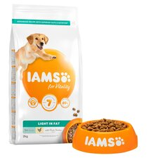 image 2 of Iams Dog Food Adult Light In Fat With Chicken 2Kg