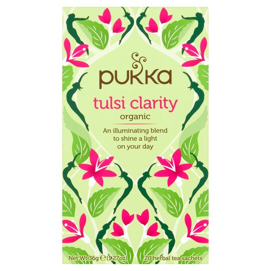 image 1 of Pukka Organic Tulsi Clarity Herbal Tea 20 Sachets 36G