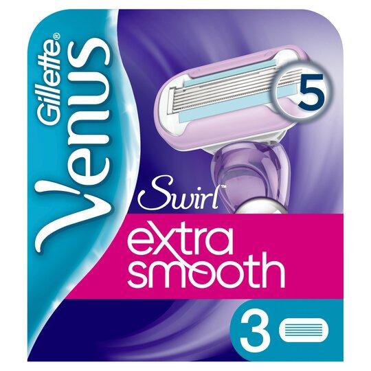 image 1 of Gillette Venus Swirl Exsmooth Blade 3 Pack