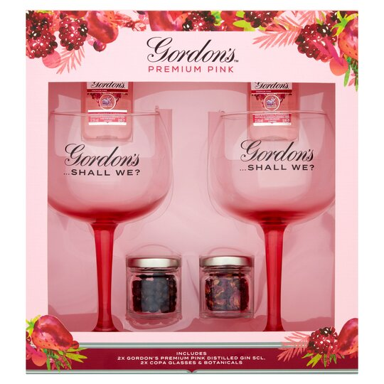 Gordon's Pink Gin & Glasses Gift Set