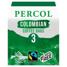 image 1 of Percol Fairtrade Colombian Coffee Bags 80G
