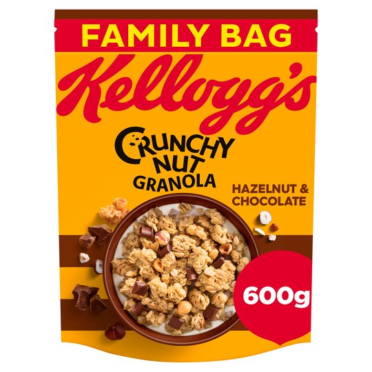 Kellogg's Crunchy Nut Hazelnuts & Chocolate Granola 600G