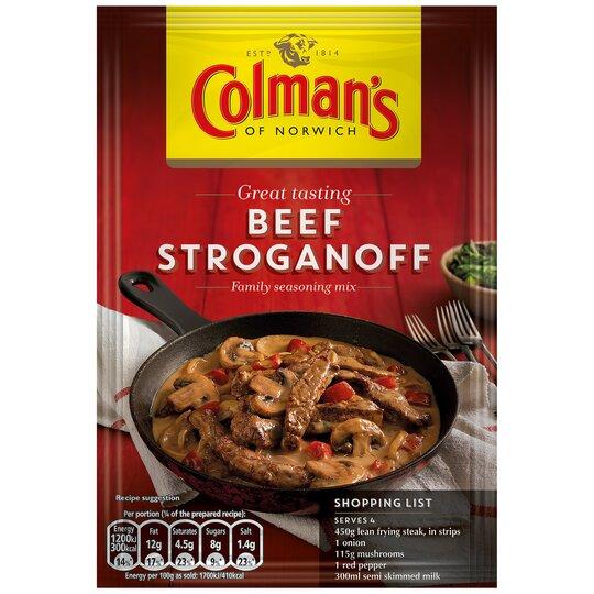 Colman's Beef Stroganoff Recipe Mix 39G