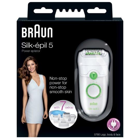 image 1 of Braun Silk-Epil 5780 Legs/Body Face Epilator