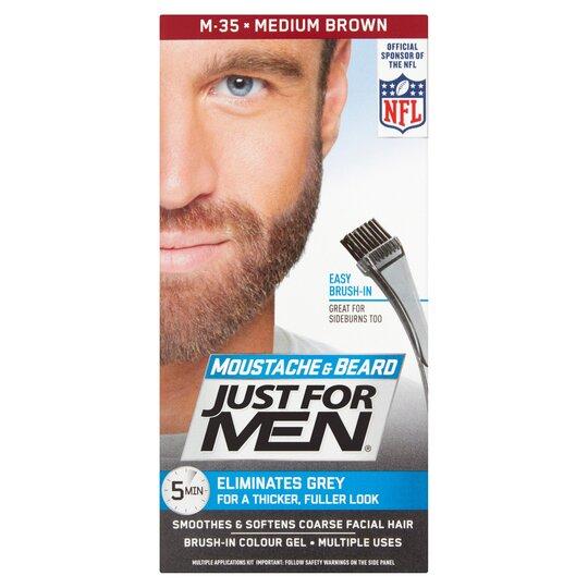 image 1 of Just For Men Brush-In Colour Gel Medium Brown