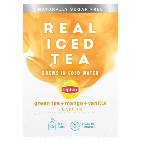 Lipton Real Iced Green Tea, Mango & Vanilla 15'S 33G