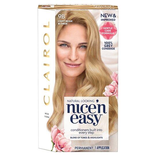 Clairol Nice 'N Easy Light Beige Blonde 9B Hair Dye