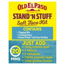 image 2 of Old El Paso Extra Mild Stand 'N' Stuff Soft Taco Kit 329G
